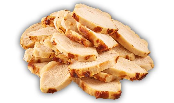 Slices di petto di pollo arrosto